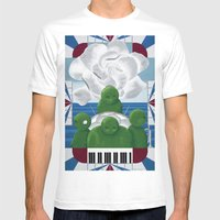 Ensemble Mens Fitted Tee White SMALL