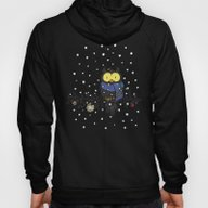 Owl In The Snow Hoody