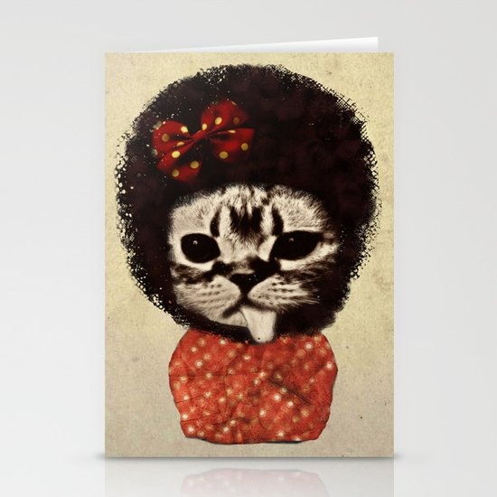 Cat (Pack-a-cat) Stationery Card