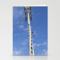 Emirates Cable Car And British Airways Stationery Cards