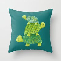 Turtle Stack Throw Pillow