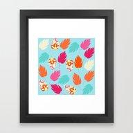 Framed Art Print featuring Leaves Pattern #5S by Luizavictorya72