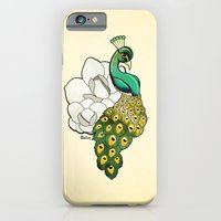 iPhone & iPod Case featuring Magnolia Peacock by Steph Dillon