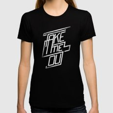 Take Me Out Womens Fitted Tee Black SMALL