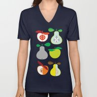 Apples And Pears / Geome… Unisex V-Neck