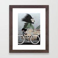 Alleycat Races Framed Art Print