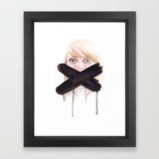 Quiet Down Framed Art Print