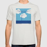No234 My Truman show minimal movie poster Mens Fitted Tee Silver SMALL
