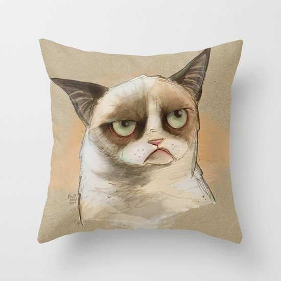 Tardar Sauce Throw Pillow