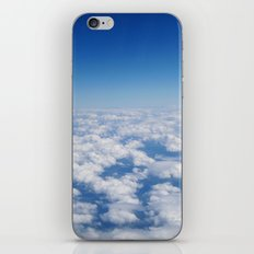 Blue Sky White Clouds Color Photography iPhone & iPod Skin