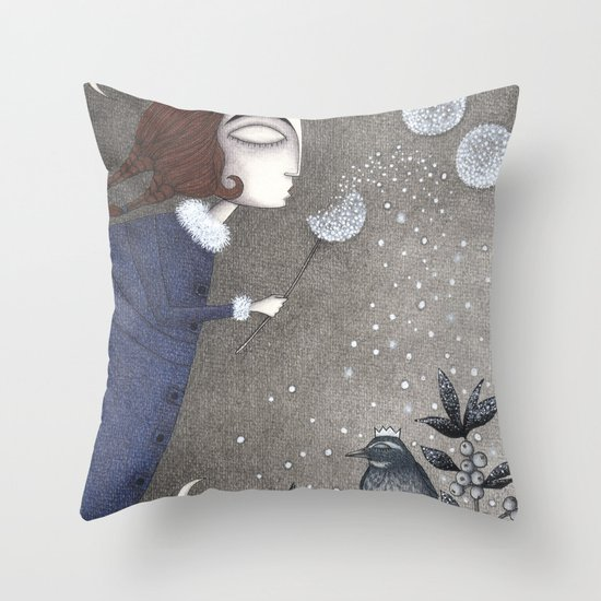 Winter Twilight Throw Pillow