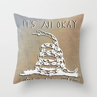 Gnalog (Analog Zine) Throw Pillow