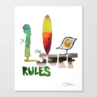 The Surf Rules Canvas Print