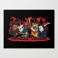 Where the Slashers Are (Full Color) Canvas Print