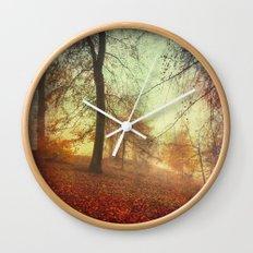 Fall Tapestry Wall Clock
