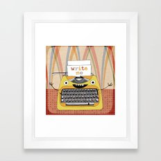 write me Framed Art Print