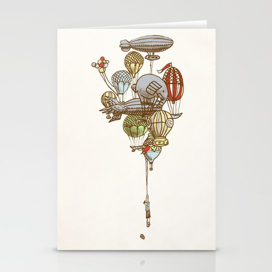The Great Balloon Adventure Stationery Card