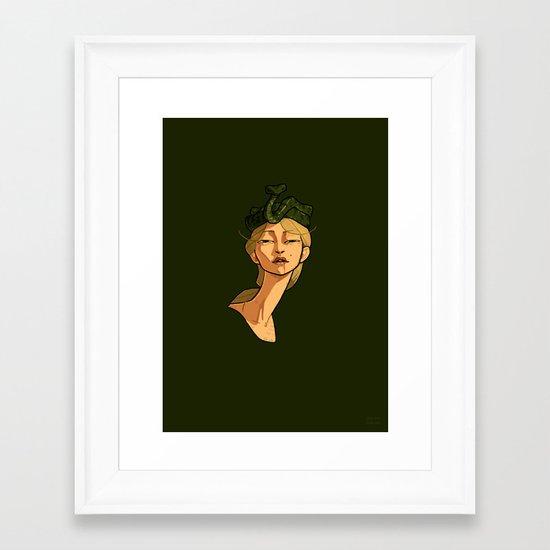 Snake Goddess Framed Art Print
