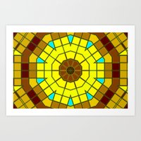 Glass Kaleidoscope Art Print
