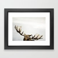 fig. 02   antlers Framed Art Print