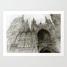Rouen Facade Art Print