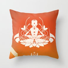 Opening the higher state of consciousness Throw Pillow
