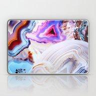 Laptop & iPad Skin featuring Agate, A Vivid Metamorph… by Elena Kulikova