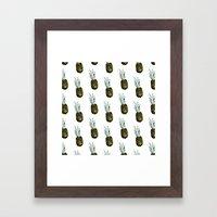 Take my pineapple! Pattern :) Framed Art Print