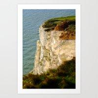 Bright White Cliffs  Art Print