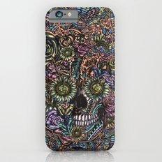 Sensory Overload Skull in Pastels iPhone 6 Slim Case