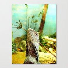 Vacation Lizard Canvas Print