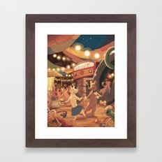 Saturday Night at the Junkpile Framed Art Print