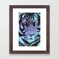Be A Tiger (Blue) Framed Art Print