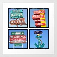 Vintage Signs Composite … Art Print