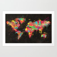 Psichedelic Continents Art Print