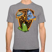 Candy the Magic Dinosaur Mens Fitted Tee Tri-Grey SMALL