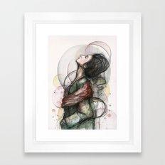 Beauty Illustration Framed Art Print