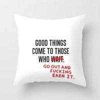 Good Things Throw Pillow