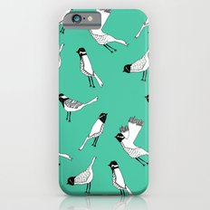 Bird Print - Turquoise Slim Case iPhone 6s