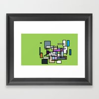 SQuAREs  Framed Art Print