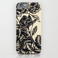 Peonies, black & white  iPhone 6 Slim Case