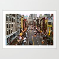 Busy Day in Chinatown, New York City Art Print