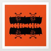 Orange AbstractArtwork Art Print