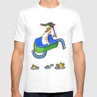 MORO brother AA Mens Fitted Tee White SMALL