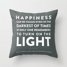 Light - Quotable Series Throw Pillow