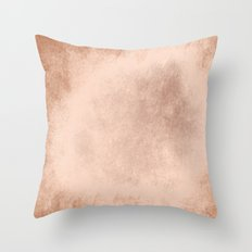 Brown grunge texture Throw Pillow