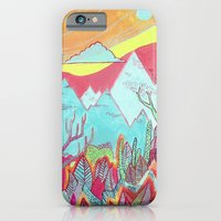 iPhone & iPod Case featuring Colorful Landscape by Alex Boucher Art
