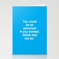 NASA Told Me So Stationery Cards