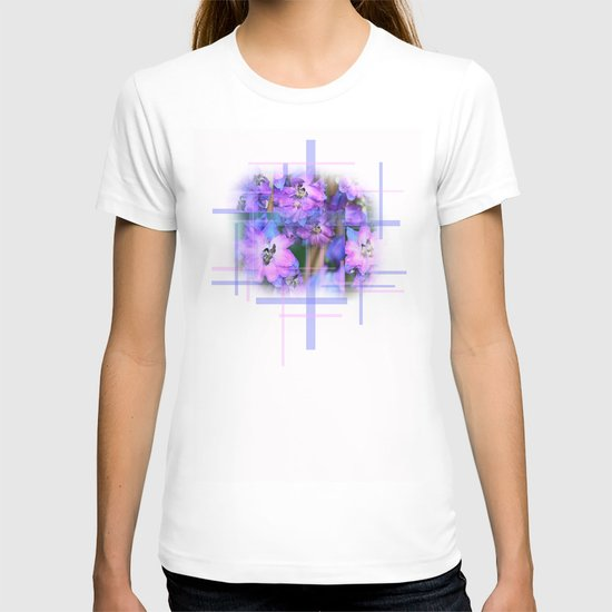 Beautiful Purple And Blue Flowers T-shirt