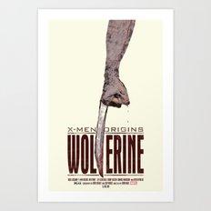 X-Men Origins: Wolverine Art Print